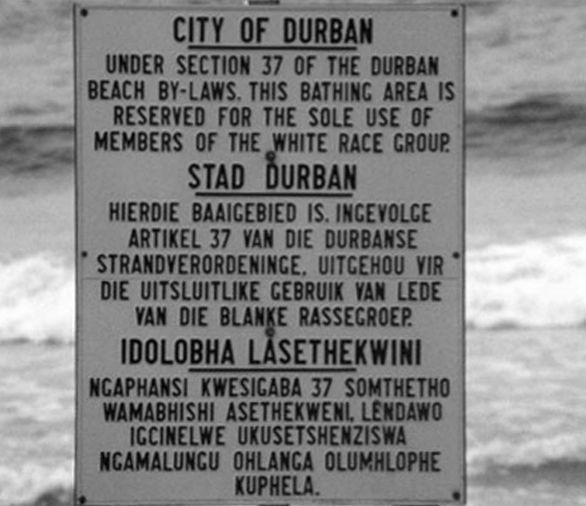 Schild in Durban