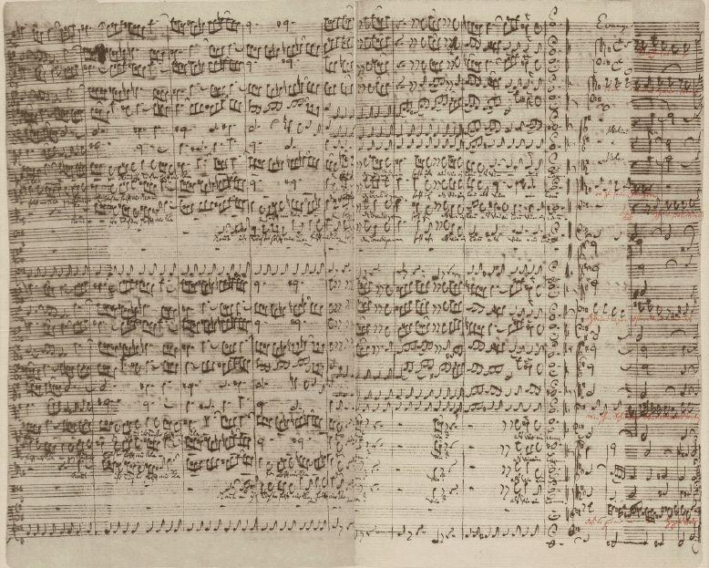 Ausschnitt aus der Partitur der Matthäuspassion