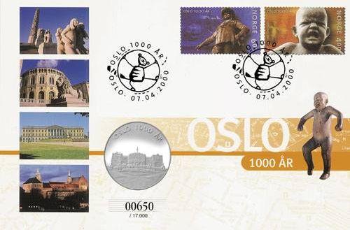Briefmarke Oslo 1000 Jahre-Jubiläum