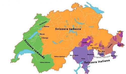 Regioni linguistiche della Svizzera